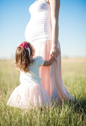 Beistellbett - Mama und Kind
