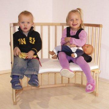 babybay maxi 160102 - Beistellbett / Baby-Bettchen 'Das Große', weiß lackiert -